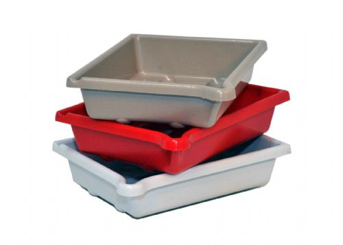 "Set of 3 AP Darkroom Developing Dish 10x8"" (25 x 20cm) Red/White/Beige"